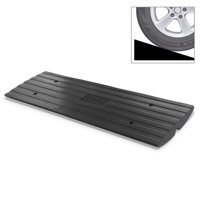 Pyle Vehicle Driveway Curb Ramp - Heavy Duty Rubber Threshold Ramp