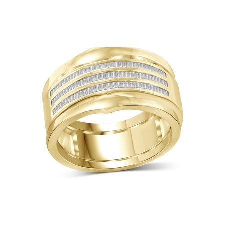 JewelersClub 1/2 Carat T.W. White Diamond 14K Gold Over Silver Stackable Ring