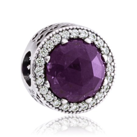 2c2706a70 PANDORA - Authentic Royal Purple Radiant Heart Charm in 925 Sterling  Silver, 791725NRP - Walmart.com