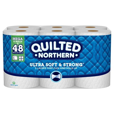Quilted Northern Ultra Soft & Strong Toilet Paper, 12 Mega Rolls (= 48 Regular Rolls) (Toilet Paper Northern)
