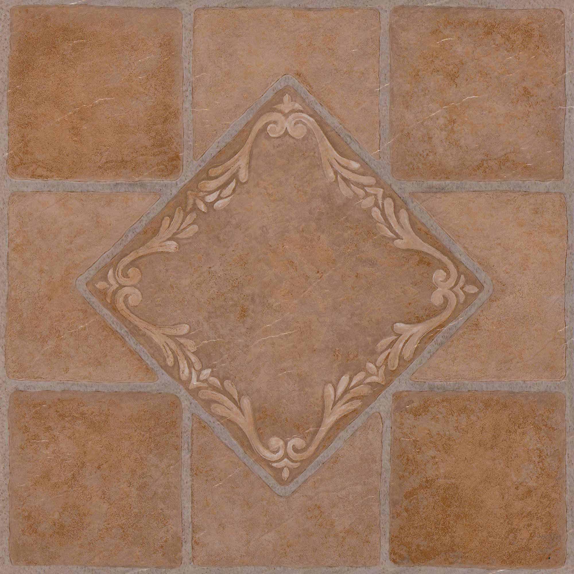 NEXUS South West Ceramic X Self Adhesive Vinyl Floor Tile - 12 inch ceramic floor tiles