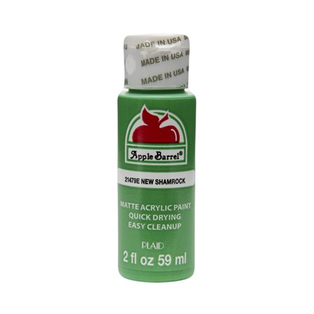 Apple Barrel Matte Finish Acrylic Craft Paint by Plaid, New Shamrock Green, 2 oz.