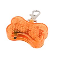 Orange  Light Bone Shape Pet Dog Blinker Flashing  Pendant Collar Gift