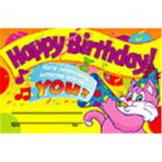 Trend Enterprises T-8100 Awards Happy Birthday!-30/Pk 5 X 8