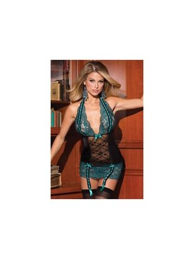 Product Image Tickled Teal Chemise 1374 by Coquette Teal Black 60f08cf8d
