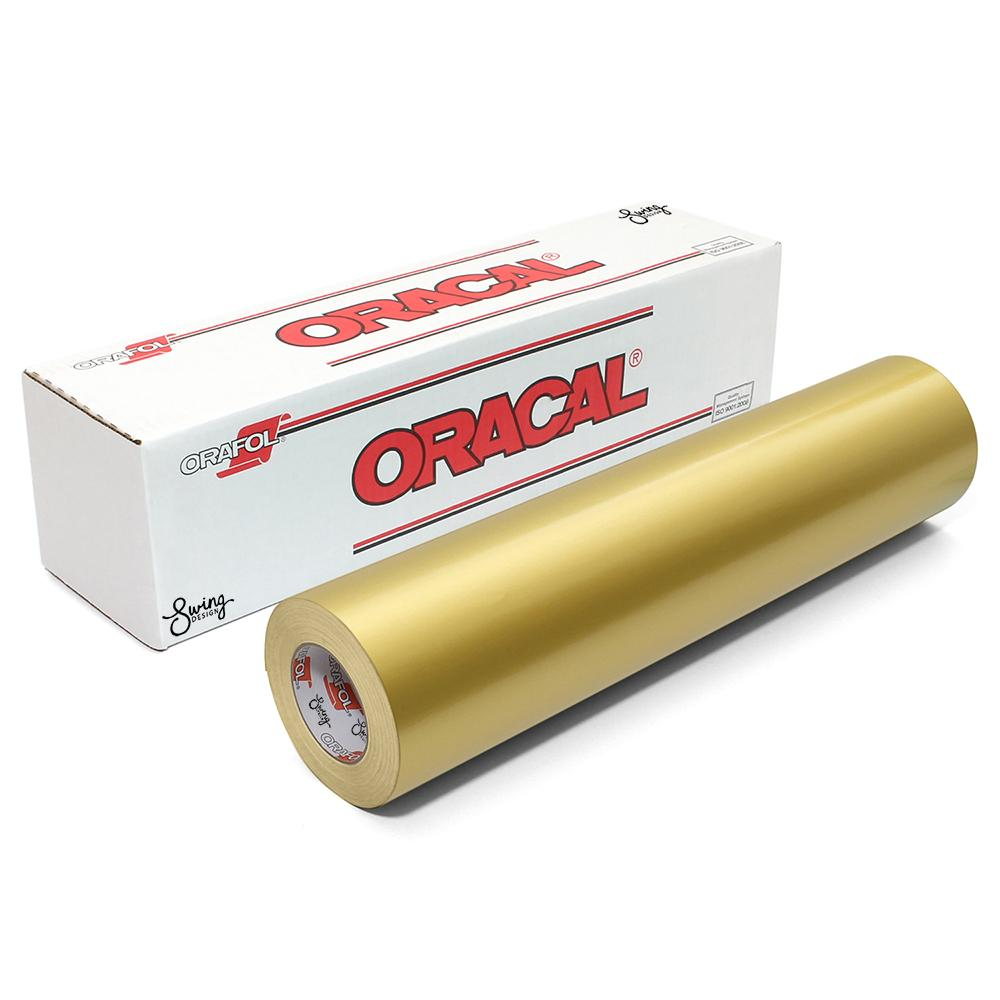 "Oracal 651 Glossy Permanent Vinyl 12"" x 6' - Metallic Gold"