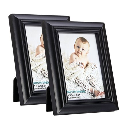 3 5x5 Inch Picture Frame Set Of 2 Made Solid Wood High Definition