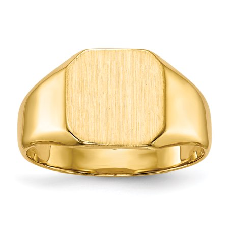 14kt Yellow Gold Signet Band Ring Solid Back Size 6.00 Fine Jewelry Ideal Gifts For Women Gift Set From Heart