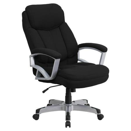 Flash Furniture HERCULES Series 500 lb Capacity Big and Tall Black Fabric Executive Swivel Office Chair