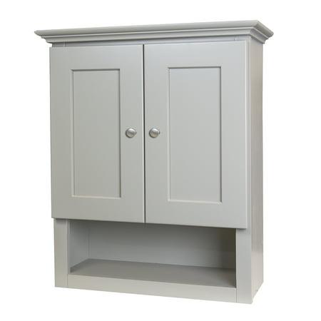 - Shaker Style Gray 21x26 Bathroom Wall Cabinet