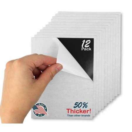 Self-Adhesive Flexible Magnetic Sheets Paper 4 X 6 Peel and Stick, Cuts To Any Size! Pack of