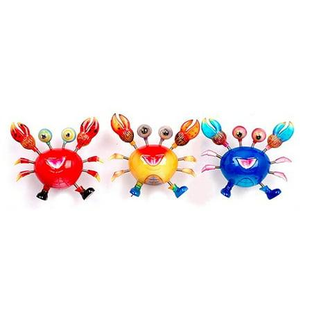 (LOT OF 3) Wiggly Spring CRAB MAGNETS -3 colors, (SET OF 3) Spring Crab Magnets, for fridge, desk etc By RINCO - Desk Fridge
