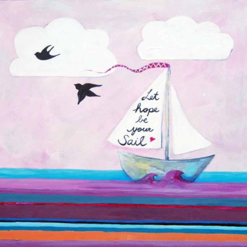 CiCi Art Paper Print Wall Hanging, Let Hope Be Your Sail
