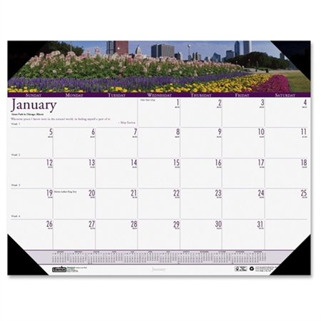"House of Doolittle Earthscapes Gardens of the World Desk Pad 12 Months Calendar 22""x17"" 174"
