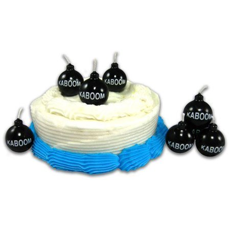 Bomb Shaped Birthday Candles That Read Kaboom