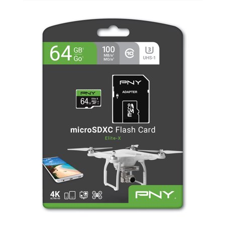 PNY 64GB Micro SDXC U3 Elite X for Drones