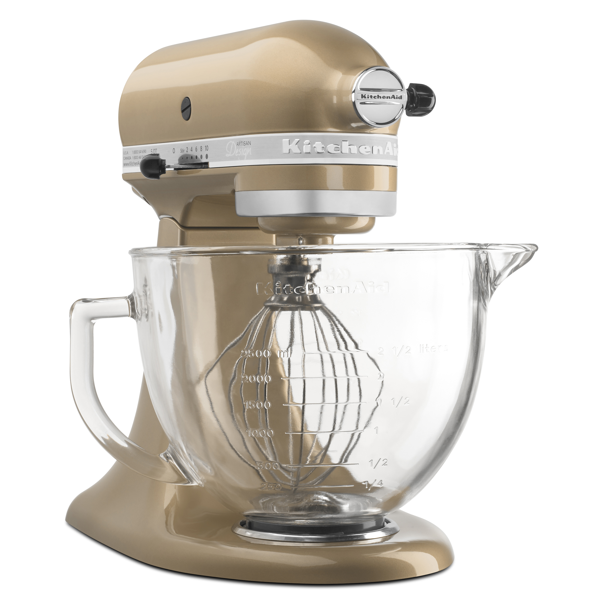 Kitchenaid Artisan Design Series 5 Quart Tilt Head Stand Mixer With Glass Bowl Champagne Closeout Walmart Com Walmart Com