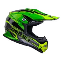 Vega Youth Mighty X2 Offroad Helmet - Green Stinger Graphic - Youth Small