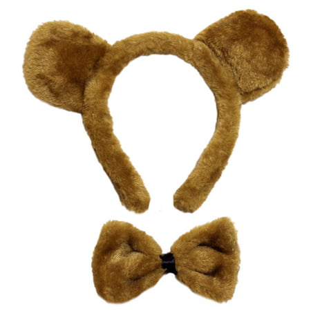 SeasonsTrading Brown Bear Ears & Bow Tie Costume Set