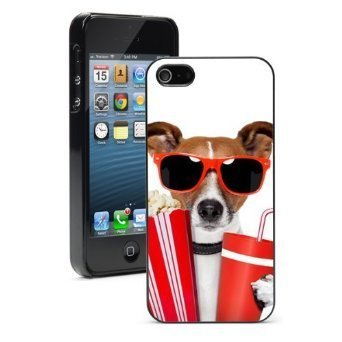Cute Popcorn (Apple iPhone 6 6s Hard Color Back Case Cover Protector Cute Jack Russell Terrier Sunglasses with Popcorn)