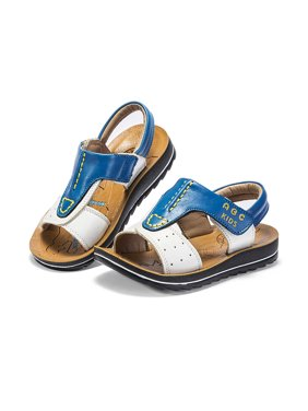 Boys Leather Sandals Summer Baby Anti-Slip Soft Sole Toddler Shoes 4-7Y