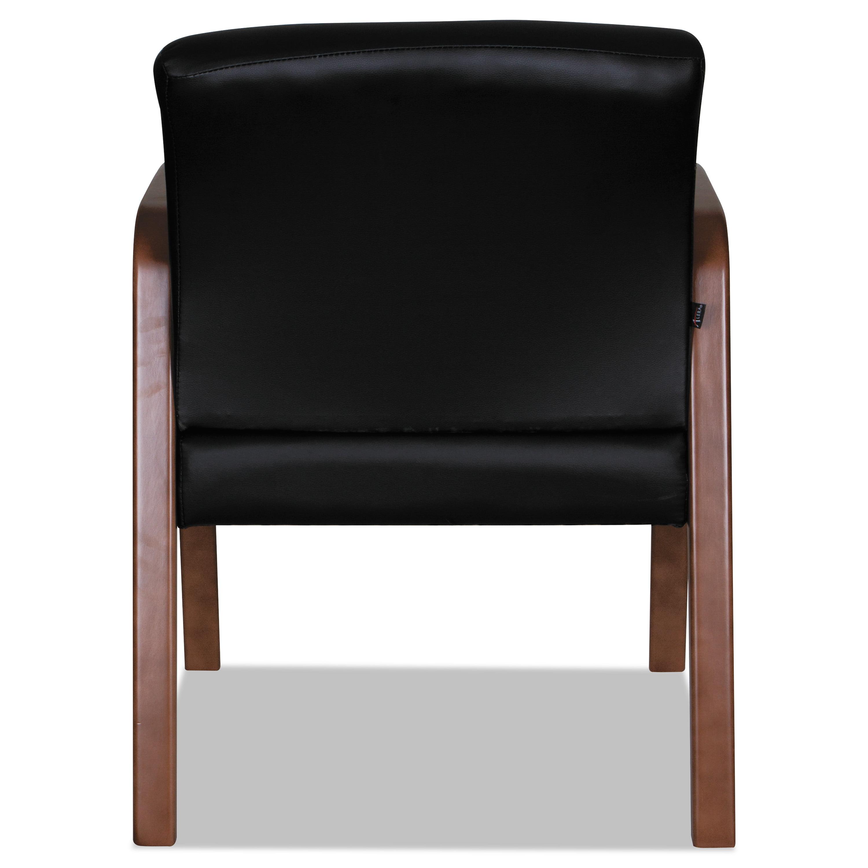 BK//Walnut 20 7//8x20 7//8x17 7//8 Alera Reception Lounge WL Series Guest Chair