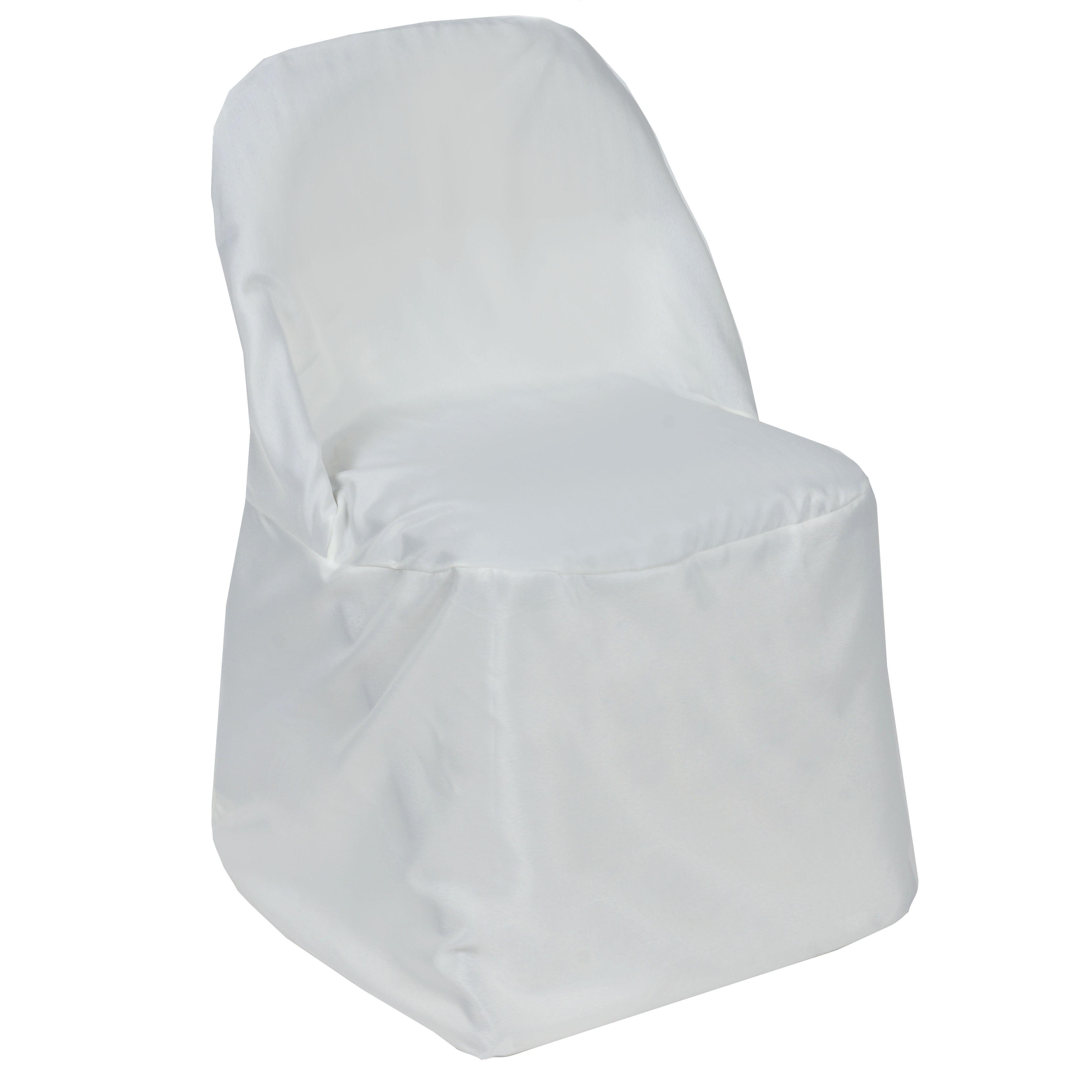 BalsaCircle Folding Round Polyester Wedding Chair Cover Walmart