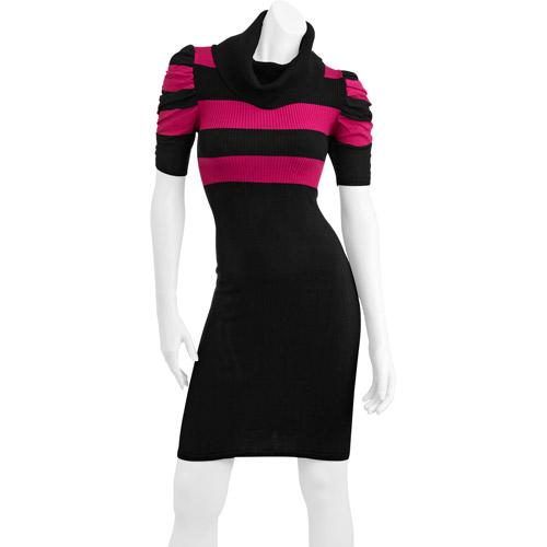 Juniors' Colorblock Stripe Sweater Dress