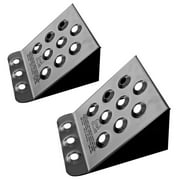 Pair of Steel Automotive Wheel Stops for Car, Pickup, or Trailer