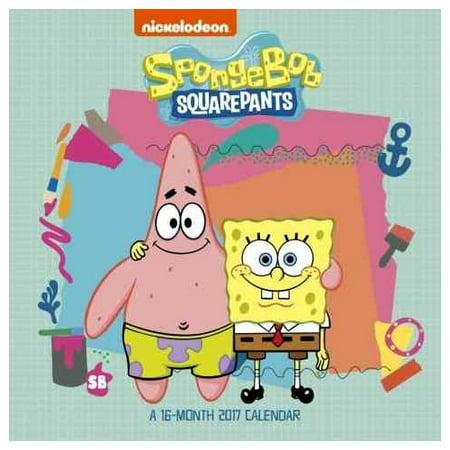 SpongeBob SquarePants 2017 Calendar - Walmart.com