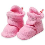 Zutano Booties Newborn Fleece Baby Booties For Baby Girls Winter Slipper Socks  - Hot Pink - 3 Months - Zutano Cozie Booties