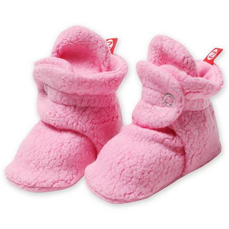 1269cc556e013 Zutano Booties Newborn Fleece Baby Booties For Baby Girls Winter Slipper  Socks - Hot Pink - 3 Months - Zutano Cozie Booties