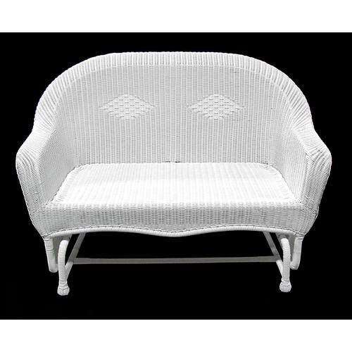 LB International Resin Wicker Double Glider Chair