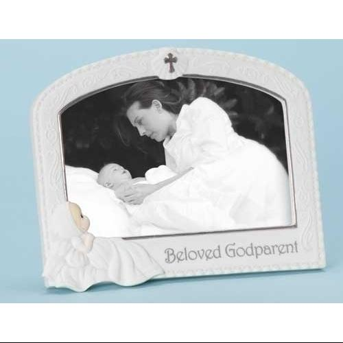 "Pack of 2 Precious Moments Religious Baptism Godparent Photo Frames 4"" x 6"""