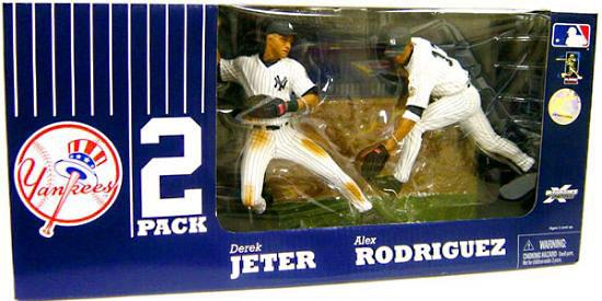 McFarlane MLB Sports Picks Exclusive 2-Pack Derek Jeter & Alex Rodriguez Action Figure 2-Pack by