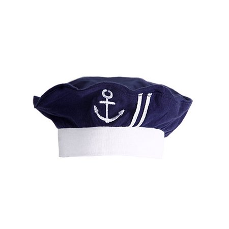 StylesILove Nautical Sailor Embroidered Baby Boy Hat, 3-12 Months (Navy Blue) (Nautical Birthday Hat)