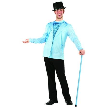 Faux Blue Tuxedo Costume T-Shirt Adult