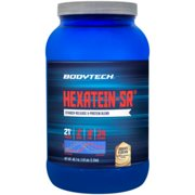 BodyTech Hexatein SR™ (Staged Release)  6 Protein Blend for Muscle Growth  Recovery + EFA's, MCT's  CLA, Cookies  Cream (2.92 Pound Powder)