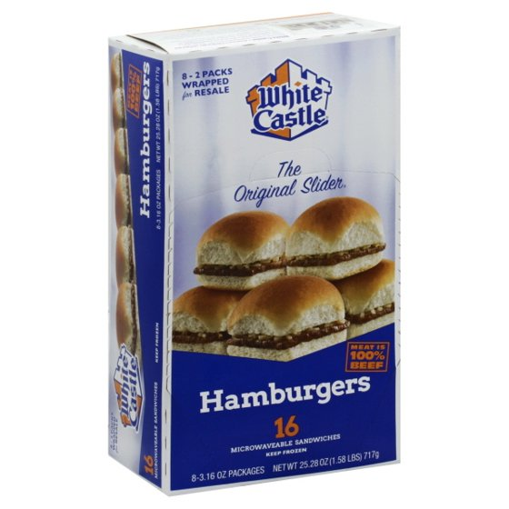 White Castle® Microwaveable Hamburgers 16 ct Box