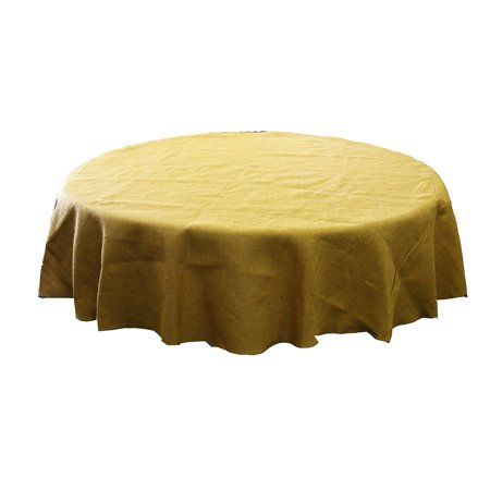 Natural Burlap Tablecloth Round 90 Inch 100 Jute