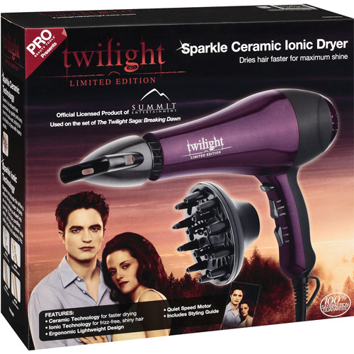 Pro Beauty Twilight Limited Edition Sparkle Ceramic Ionic Hair Dryer, 1ct