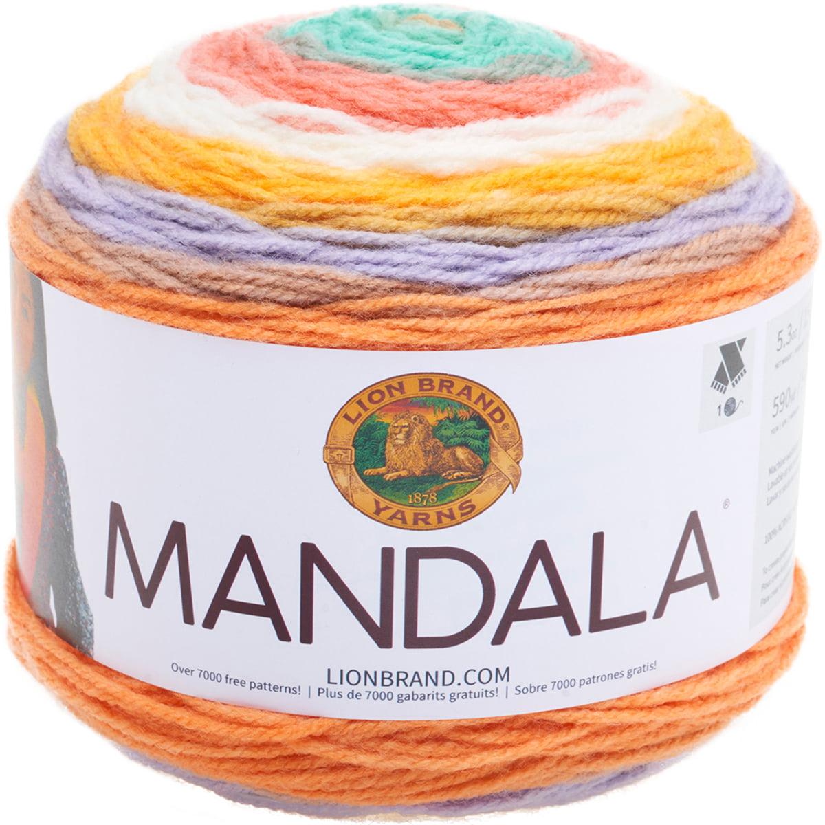 Lion Brand Yarn Madala Pixie Self-Striping Light Acrylic Multi-color Yarn