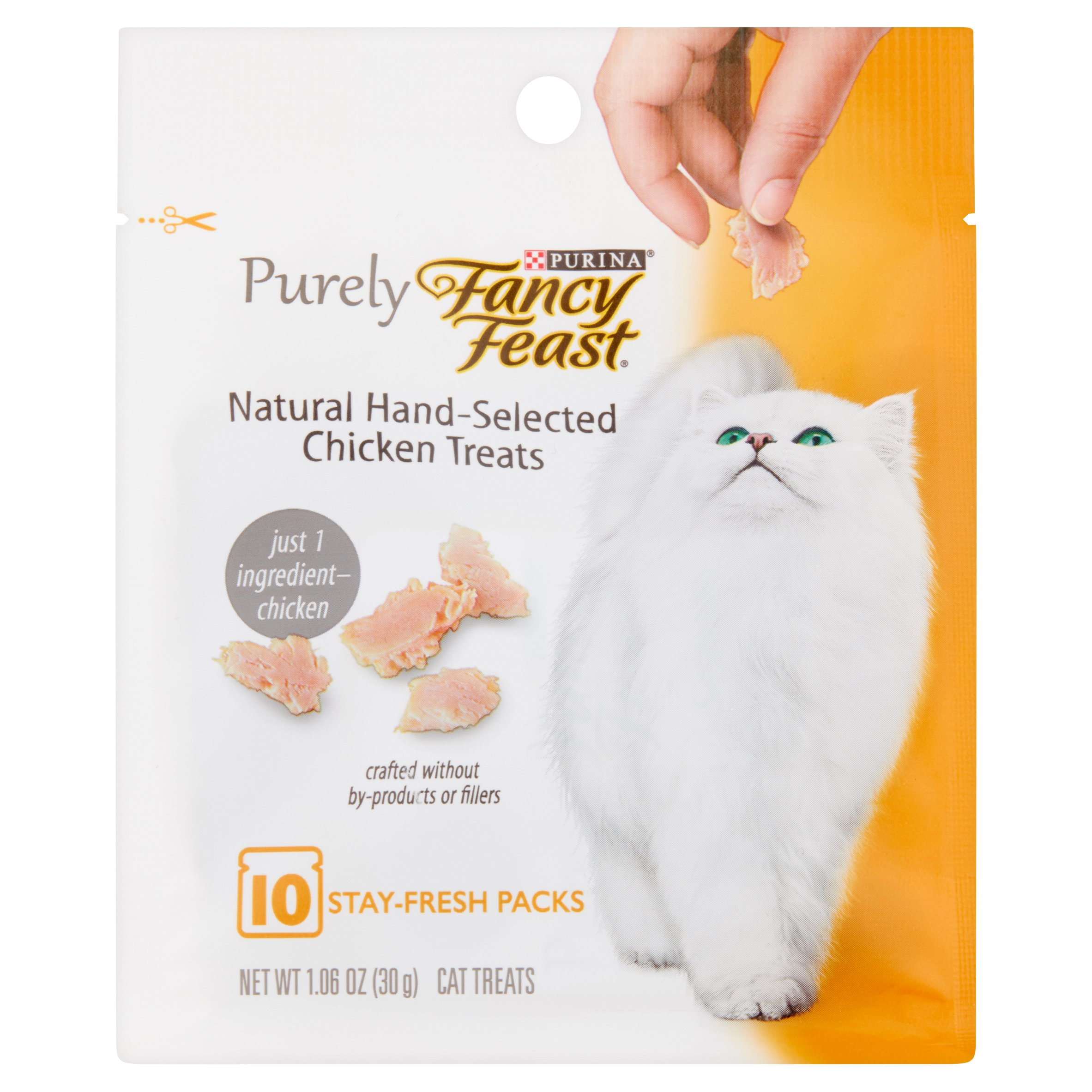 Fancy Feast Purely Natural Hand-Selected Chicken Cat Treats, 1.06 oz.