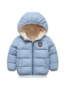 Winter Children Kid's Boy Girl Warm Hooded Jacket Coat Cotton-padded Jacket Parka Overcoat Thick Down Coat for 2-7T