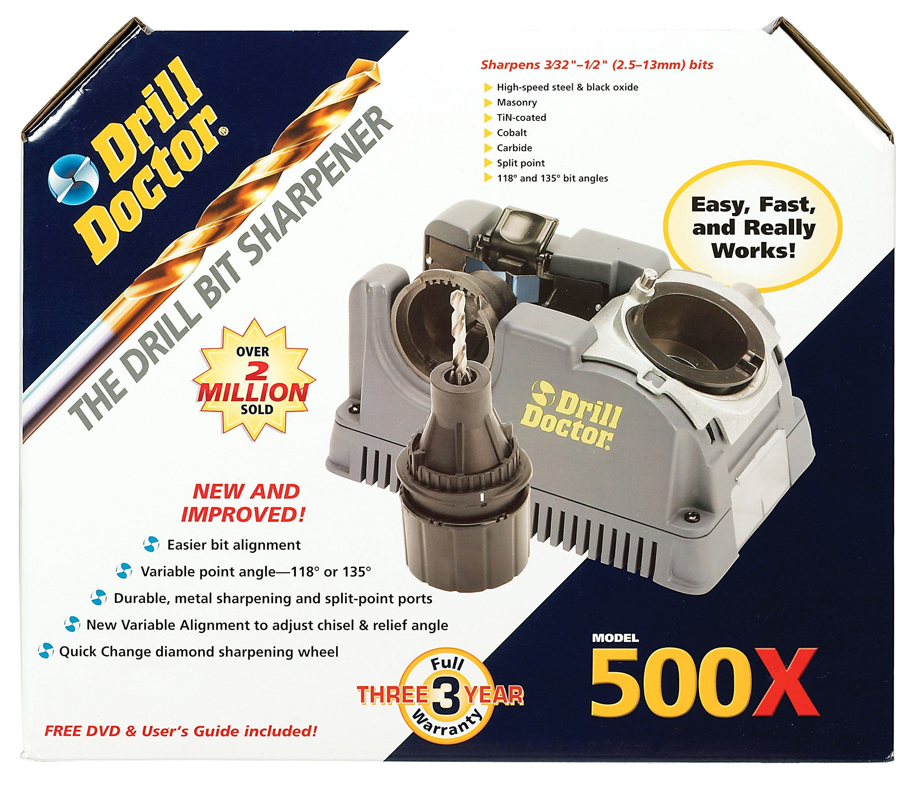 DAREX LLC DD500X 500X DrillBit Sharpener by DD500X