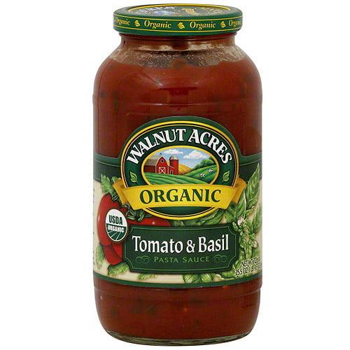 Walnut Acres Tomato & Basil Pasta Sauce, 25.5 oz (Pack of 12)