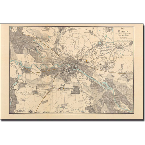 Trademark Art 'Map of Berlin, 1802' Canvas Art by Schneider