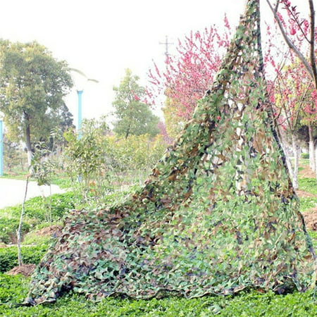 Woodland Camo Netting, Camouflage Net Camping Hunting Shooting Sunscreen Netting 39X78 Inch