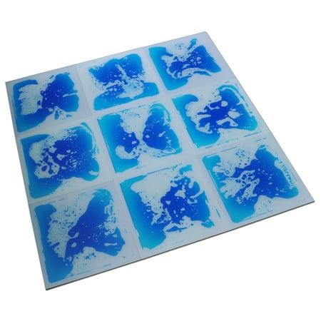 Blue Hard Flooring - Art3d Kids Play Mat Fancy Floor Tile For Kids Room Liquid Encased Floor Tile, 12