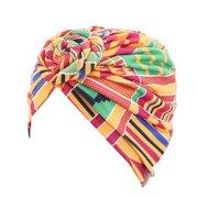 KABOER 1PCS Turbans Flower Hat for Women Pre-Tied Bonnet Cap Bohemian Hat Cotton Hair Loss Cap